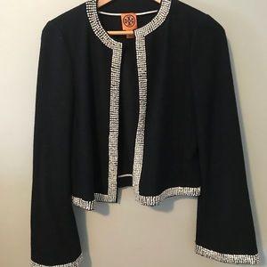 Tory Burch jacket embellished w crystals sz 6